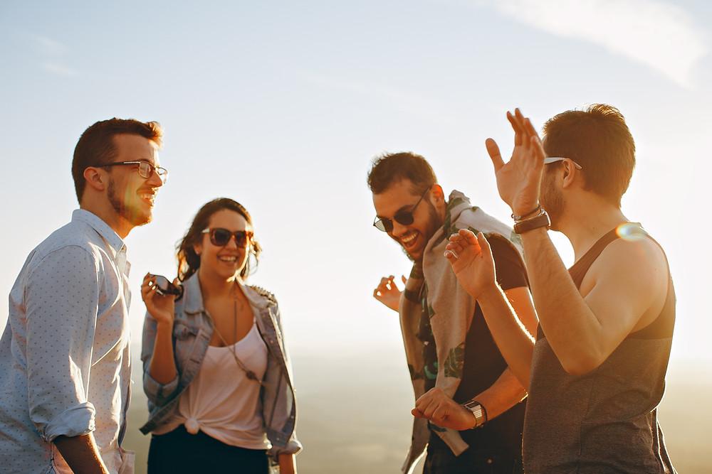 People chatting and enjoying life