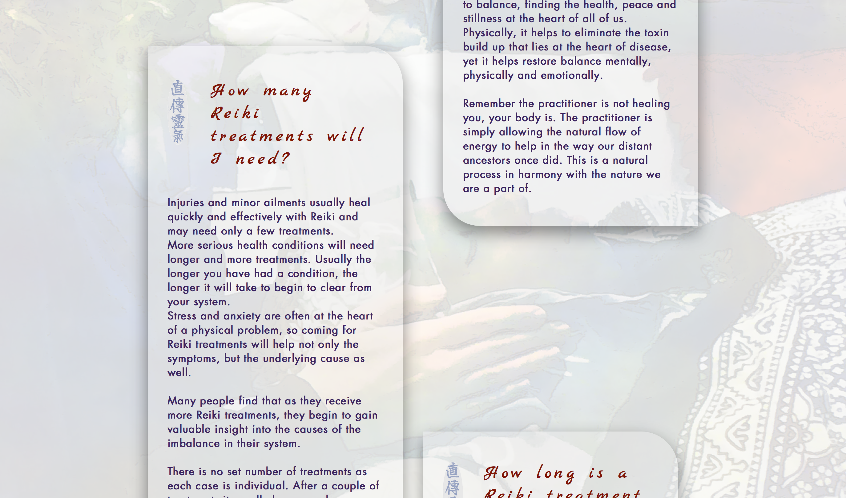 Treatments page