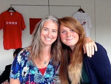Amanda Jayne and Emily Macinnes at the World Jikiden Reiki Congress