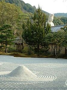 Zen garden, Kodaiji, Kyoto, Japan