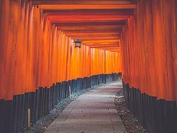 Tori gates at Fushimi Inari, Japan