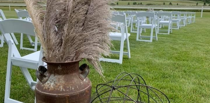 A wedding at The Track On 2 by Lacombe, Ab
