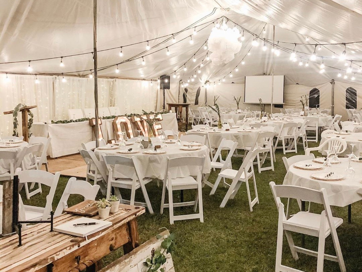 A beautiful tent wedding near Innisfail, Ab