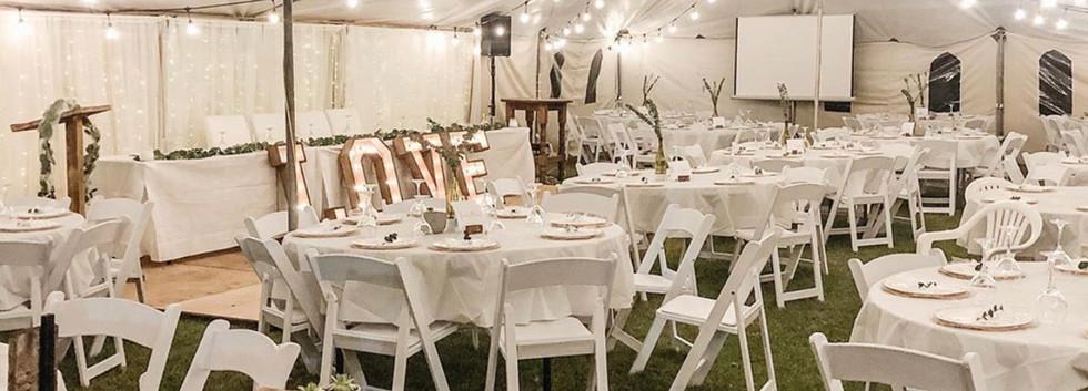 A beautiful tent wedding near Innisfail, Ab