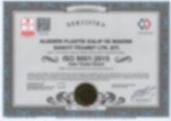 TÜRKAK Onaylı ISO 9001:2008 Kalite Yönetim Sistemi Belgesi