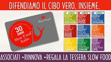 Associati, rinnova o regala la tessera Slow Food: sostieni il cibo Buono!