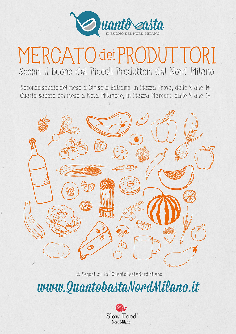 quantobasta mercato dei piccoli produttori slow food nord milano