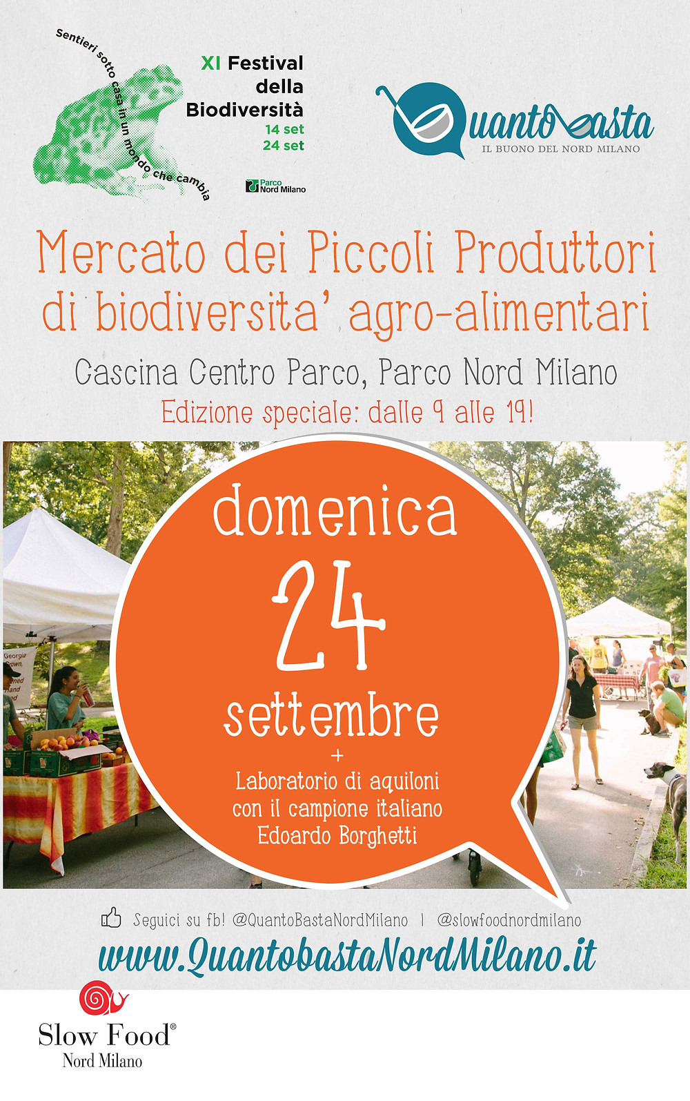 SLOW FOOD NORD MILANO FESTIVAL BIODIVERSITA