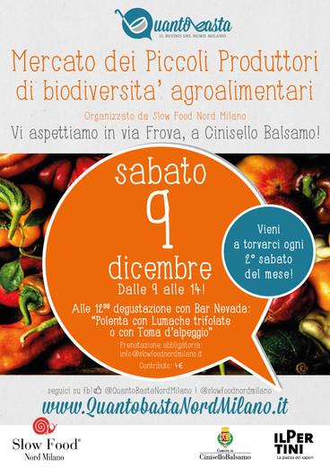 9 dicembre 2017: il mercato dei Piccoli Produttori a Cinisello Balsamo!
