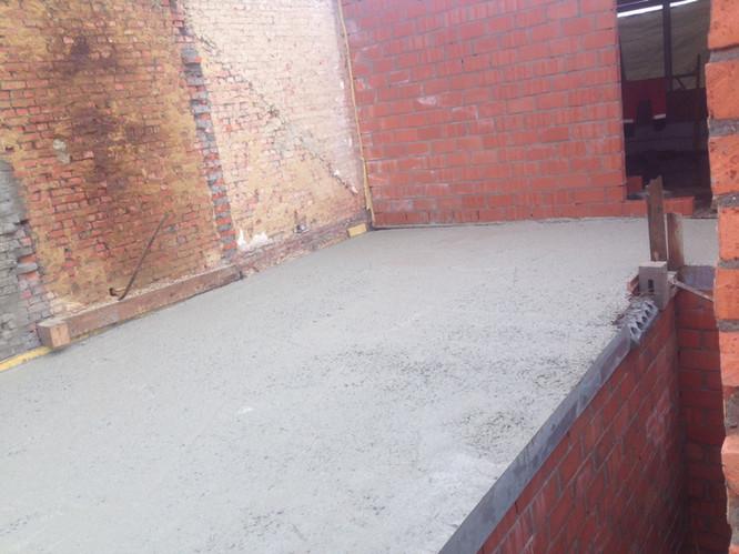 RBO - renovatie beton vloerplaat gieten.