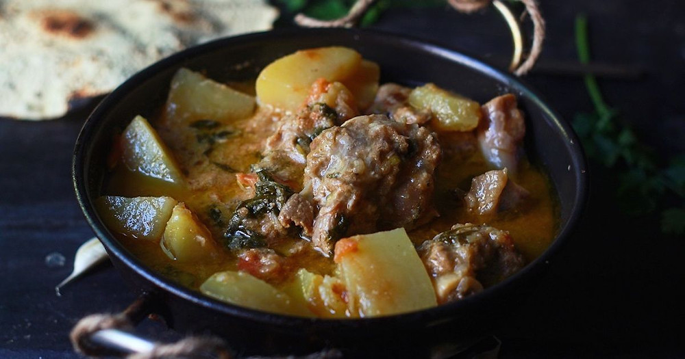 Earth Kitchen homestay aloo gosht