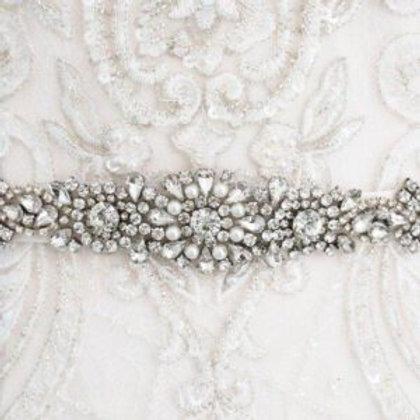 Olivia Pearl And Diamante Bridal Belt