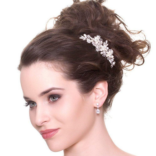 Rochelle Freshwater Pearl and Crystal Hair Comb