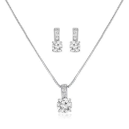 Rona Simulated Diamond Pendant Set