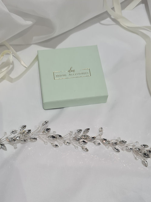Crystal Chic Hair Vine With Matching Earrings