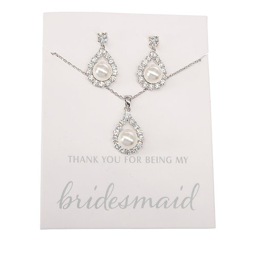 """""""Thank You for being my bridesmaid"""" Pendant Set"""