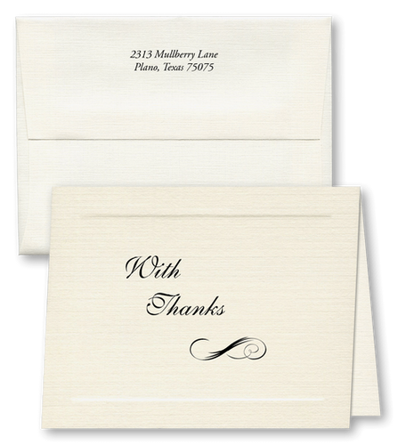 Acknowledgment Card with Return Address