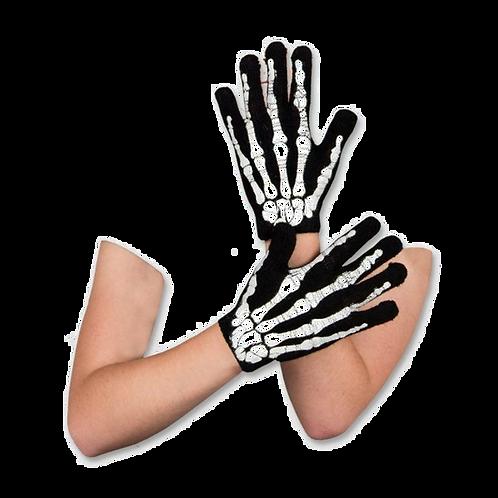 Guantes Estampados de Esqueleto