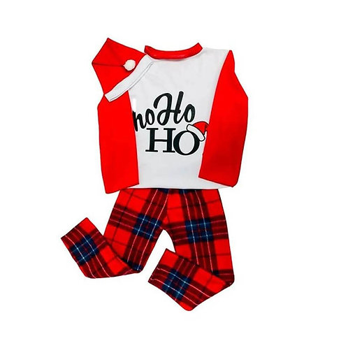 Pijama  Navideña Infantil Unisex Hohoho