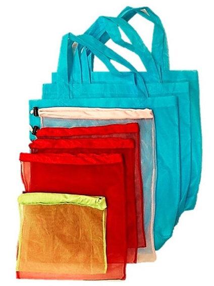 Set de 8 Bolsas Ecológicas Reutilizables Multiusos