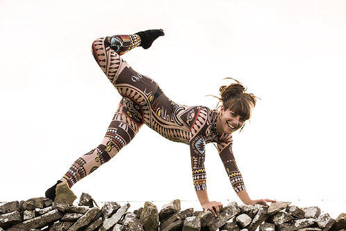 Tribal Printed Mesh Body Suit