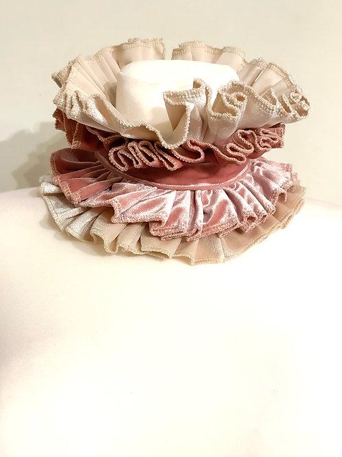 Vintage pink velvet Circus collar