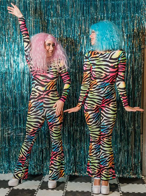Rainbow Zebra unitard