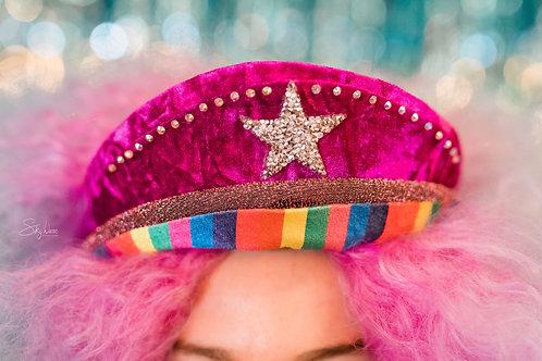 Rainbow Bowie Hat