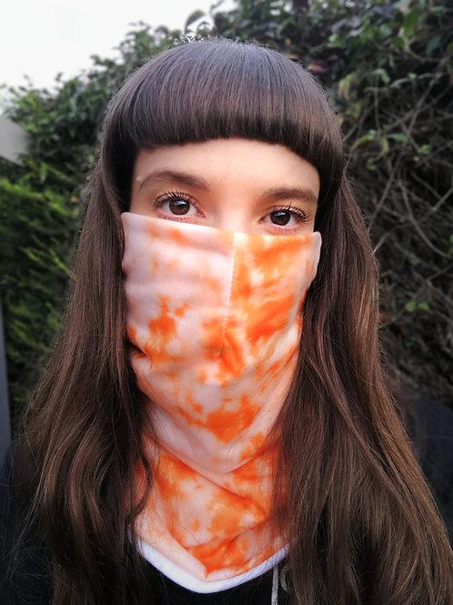 Orange tie dye