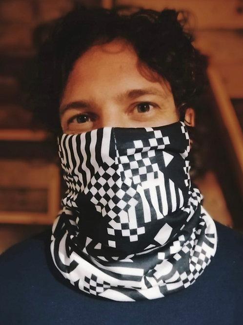 Geometric pattern scarf