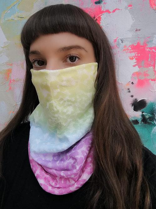 Colour pop leopard print face mask