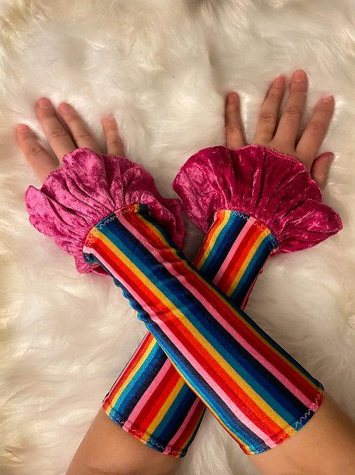 Rainbow Circus Cuffs