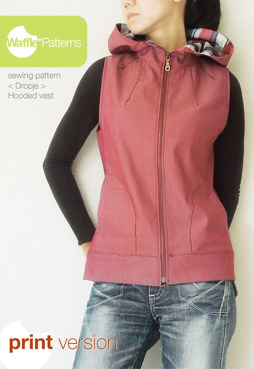 Waffle Patterns sewing patterns Hooded Vest Dropje