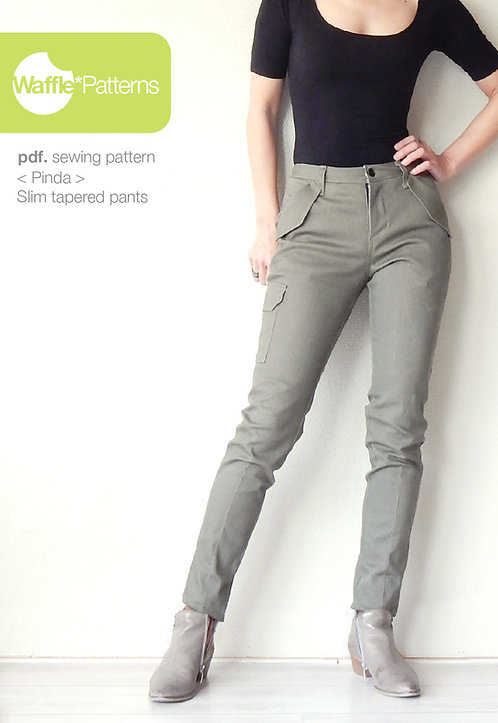 Waffle Patterns pdf sewing patterns Slim tapered pants Pinda