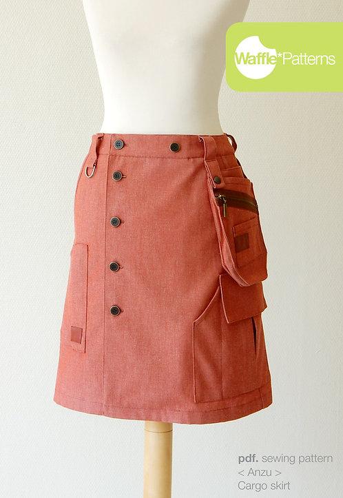 Waffle Patterns pdf sewing patterns / Anzu cargo skirt