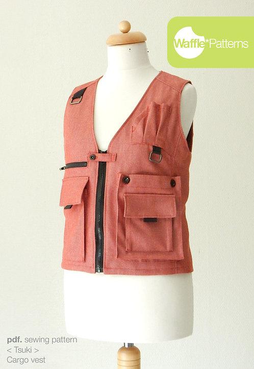 Waffle Patterns pdf sewing patterns / Tsuki cargo vest
