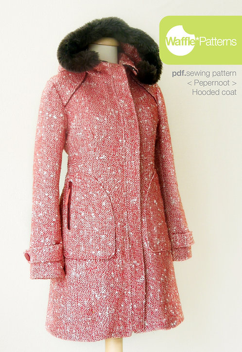 Waffle Patterns sewing patterns Hooded Coat Pepernoot