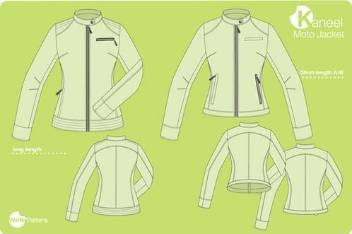 Waffle Patterns sewing patterns Moto jacket -Kaneel-