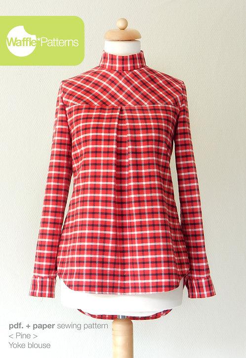 Waffle Patterns sewing patterns / Pine yoke blouse
