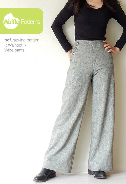 Waffle Patterns pdf sewing patterns / walnoot wide pants