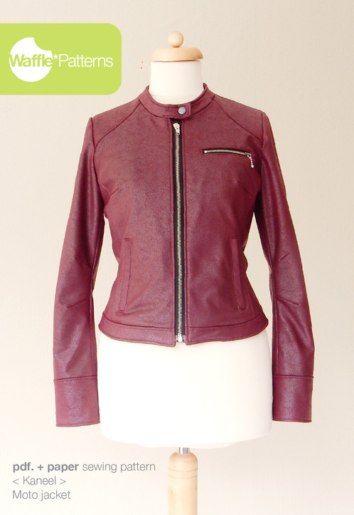 Waffle Patterns sewing patterns Moto jacket -Kaneel-