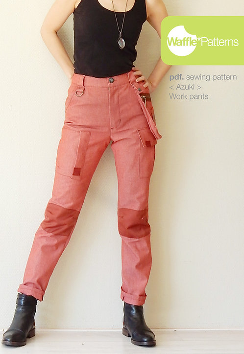 Waffle Patterns pdf sewing patterns /Azuki work pants