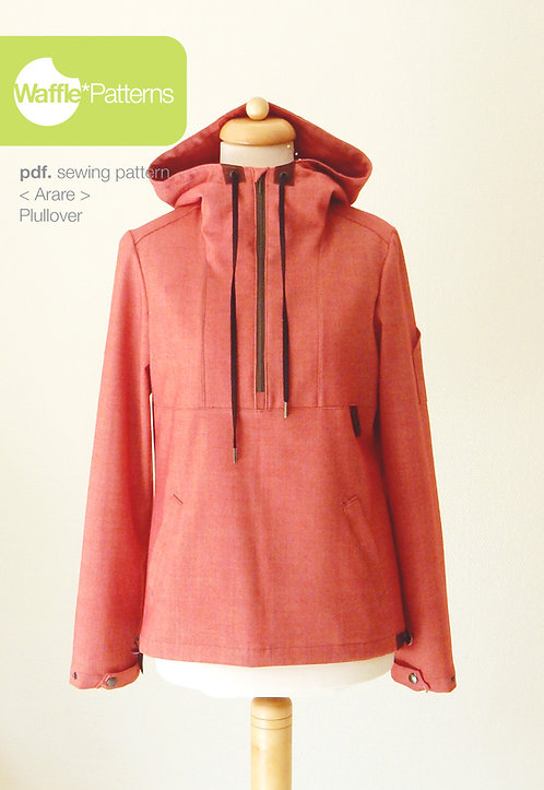 Waffle Patterns pdf sewing patterns / Arare pullover anorak