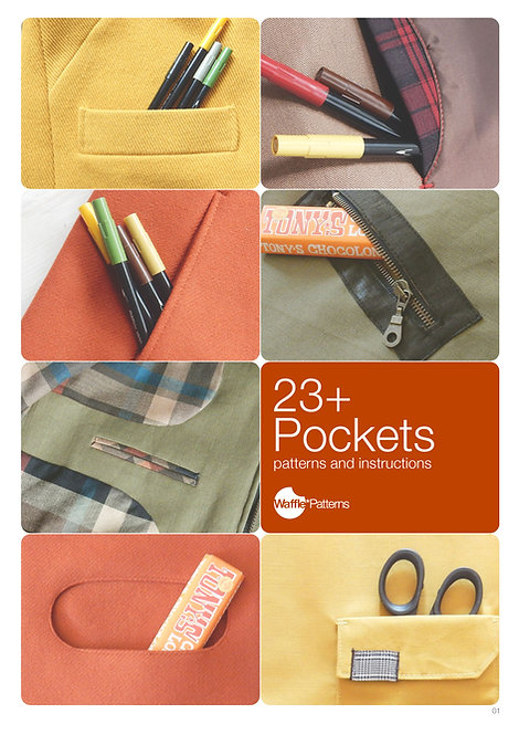 Waffle Patterns sewing patterns / 23+ Pockets pocket pattern and sewing instruction