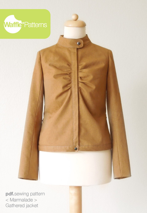 Waffle Patterns sewing patterns Gathered Jacket -Marmalade-