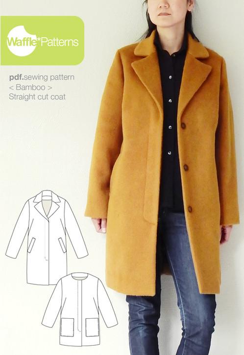 Waffle Patterns sewing patterns Straight cut coat -Bamboo-