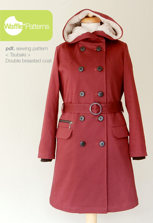 Waffle Patterns pdf sewing patterns / Tsubaki double breasted coat