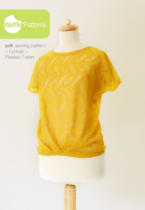 Waffle Patterns pdf sewing patterns / Lychee pleated top
