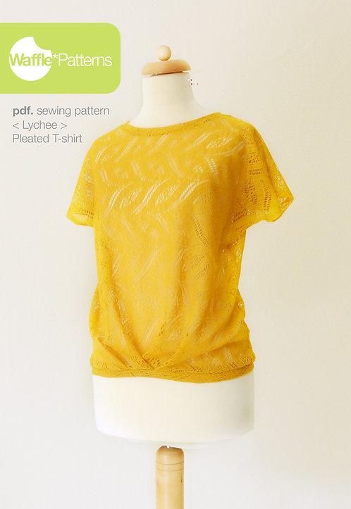Waffle Patterns pdf sewing patterns / lychee Pleated T-shirt
