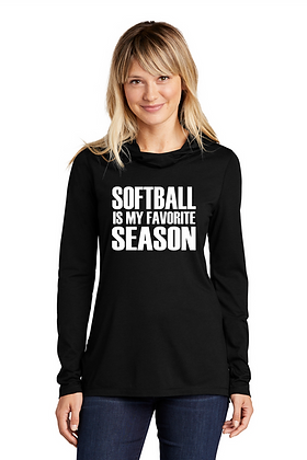 Softball is my Favorite Season Long Sleeve Hooded Tee